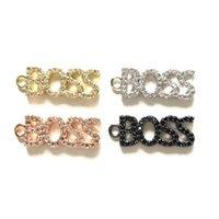 Encantos 5 pcs chefe palavra charme para mulheres jóias fazendo cúbico zircônia micro pavimentação pulseira pulseira colar pingente keychain artesanal diy