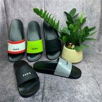 Paris Luxury дизайнерские сандалии тапочки скользкие скольжения пены бегун мужские женские летние пляжные тапочки женские леди шлепанцы мокасины черный открытый домашний прессушивание обувь туфли с коробкой