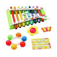 Crianças Oitava Hand Knock Piano Musical Instrument Placa Educacional Brinquedos Adequado para Baby Music Illightenment Cor Aleatória H1009