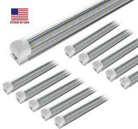 25 pcs, LED Shop Light, 4FT 8FT 150W 15000LM 6000K, Blanc froid, Forme U, Couverture claire, Sortie Hight, Shoplights Linkable, T8 LED TUBE Lumières