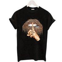 المرأة t-shirt zogankin الشفاه ليوبارد الجرافيك تي شيرت المرأة قمم الصيف الأزياء قاعدة o- neckblack تيز قبلة الشفاه مضحك الفتيات الزى