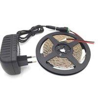 Nicht wasserdicht 600 LEDs LED-Licht 5m 3014 Streifen 5mm Weiß Warm + 12V2A Netzteil EU US AU Plug + DC-Steckerstreifen