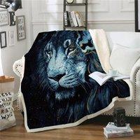 Couverture de jet d'imprimée pour canapé lit Lion Lion Lits Couvre-lit doux chaud hiver en peluche couverture voiture couverture enfants enfants adultes couvertures