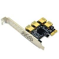 PCIE PCI-E PCI Express Card Riser 1x para 16x 1 a 4 Adaptador de Hub multiplicador USB 3.0 para dispositivos BTC de mineração Bitcoin