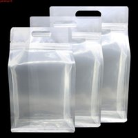 Bolsas de plástico transparentes ecológicas Reutilizables Ziplock Soporte de frijoles de café Cocina Almacenamiento de té negro con Hang HoleGoods