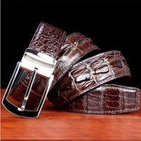 WESTAL Men's Crocodile Leather Belt For Men wide belts Waist Luxury Metal Buckle Male Casual Fashion Waistband