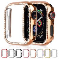 Luxury Bling Crystal Diamond Full Cover Protective Cases Hard PC Bumper For Apple Watch iWatch series 6 5 4 3 2 44mm 42mm 40mm 38mm