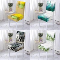 Chair Covers Natural Scenery Style For Dining Chairs Chaircover Office Cover Plant Leaf Pattern Bar Home Stuhlbezug