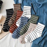 Autumn Sttiped Women's Men's Socks Casual Unisex Socks Man Woman Fashiona Coton College Style Women's Man's Socks