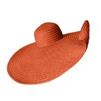 Sombreros de ala ancha One Drop Sun Hat 25 cm Hombres y mujeres Extremo de la paja del verano del verano