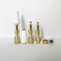 KRT Vape Cartridges Atomizers 0.8ml 1ml Ceramic Cartridge Glass Tank Thick Oil Dab Pen Wax Vaporizer Carts E Cigarettes 510 Thread Empty