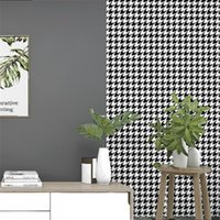 Shuhiko Non-self-adhesive, No Glue, Adhesive Brush, Home Decoration Houndstooth Nordic Geometric Color Matching Wallpaper Wallpapers