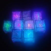 밝은 얼음 조각, 깜박이는 욕조를위한 깜박이는 얼음 큐브 욕조 화병 결혼식 폰드 클럽 바 샴페인 타워 파티 휴가 장식