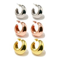 Stud 2021 Fashion Jewelry Copper Metal Moon Boat Earring For Women Daily Dating Party Gifting