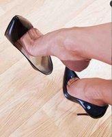 [Original Box] 클래식 여성 드레스 신발 브랜드 붉은 하이 밑의 하이힐 특허 가죽 뾰족한 발가락 럭셔리 얕은 입 빨간색 솔리드 웨딩 슈즈 크기 35-43