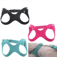 Dog Collars & Leashes Fashion Glasses Style Pet Harness Korea Suede Adjustable Safety Control Soft Walk Vest Leash Cat Puppy Collar