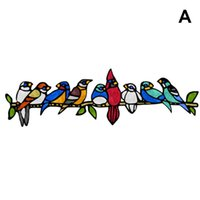 Wall Stickers Stain Glass Window Self-adhesive Decal Bird Home Decor Cute 3D Car Decals Living Room Decorations HE