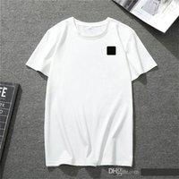 Camiseta de verano de hombre de verano estilo europeo y americano hip-hop casual diseñador deportes de manga corta 100% algodón tamaño al por mayor.