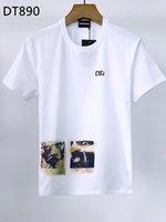 DSQ PHANTOM TURTLE 2021SS New Mens Designer T shirt Italian fashion Tshirts Summer DSQ Pattern T-shirt Male High Quality 100% Cotton Tops 60927