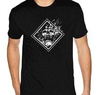Serin Kafatası Raid Tshirt Erkekler Kendi Kısa Kollu Yapın Tam Pamuk Ekip Boyun Gömlek T-Shirt