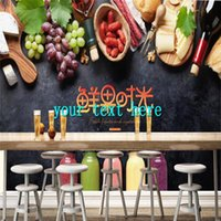 Wallpapers Fruits And Vegetables Picture Beverage Shop Wallpaper Catering Background Wall Papers Industrial Decor Mural Papel De Parede