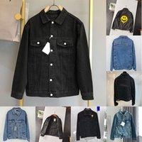 21SS Denim Jacket Hombres Mujeres Alta Calidad Casual Balencaiga Abrigos Negro Azul Moda Hombre Estilista Chaquetas Tamaño M-XXL