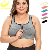 Lazawg Artı Boyutu S-5XL Spor Sutyen Kadınlar Için Spor Sutyen Push Up Yelek Iç Çamaşırı Yüksek Darbeye Nefes Fitness Atletik Yoga Sutabası Topssoccer Jerse