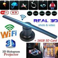 Strings 3D Hologram Projector Light AC 100-240V Plug-in Advertising Display LED Fan Holographic Lmaging Lamp Remote