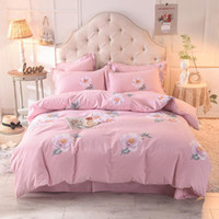 Bedding Sets Twin Queen King Size 4Pcs Duvet Comforter Cover Bed Set Brushed Cotton Warm Soft Flat Sheet Pillowcase