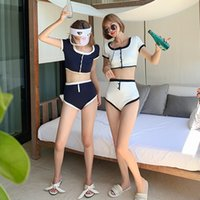 US's new style simple girls' split swimsuit female show thin cover belly hot spring resort