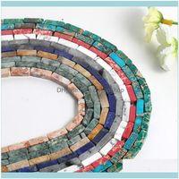 JewelryJewelry Findings 큐브 스톤 루스 비즈 16 색 5 * 1M 큐브 구슬 DIY 수제 가닥 보석 팔찌 목걸이 귀걸이 만들기