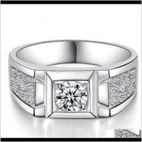 Anéis Drop Delivery 2021 Luxo - Yknrbph Moda S925 SERIER SIER Diamante Domineering e Único Casamento Mens Anel Fine Jóias Y19051602 C