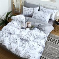 Bedding Sets Washed Silk Comfortable AB Side Set Double Queen King Size Bed Sheet Pillow Cases Nature Duvet Marbling Cover