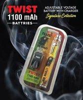 Vente de gros biscuits Runtz Backwoods R et M Dessin animé Vape Pen Twist Batterie avec chargeur USB 1100mAh Voltage réglable Bob Marley