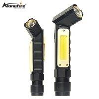 Alonefire espiga de mão mão móvel luzes de trabalho USB carregando multifuncional e portátil led lanternas tochas