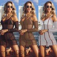 Frauen Casual Kleider 2021 Sommer Neue Designer Mode Frauen U Hals Große Urlaub Langarm Tight Sexy Perspektive Bildschirmkleid Dünne Kleidung