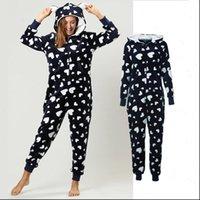 Winter Pajama Set Warm Flannel Women Sleepwear Hooded With Pocket Onesie Fluffy Female One piece Jump Suits Pyjama Homewear