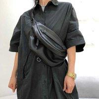 Genuine Leather Chest Shoulder Bag Cool Crossbody Packs for Woman Cowhide Female Spring High Quality Belt Saddle Shoulder Bags 210719
