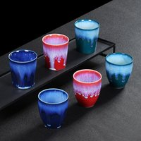Mugs Ceramic Kiln Variable Flow Glaze Espresso Cup Large Family Master Tea Set Cute Coffee And Cups