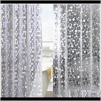 Plastik PVC 3D Su Geçirmez Duş Şeffaf Beyaz Temizle Banyo Anti Kill 12 P Ile Yarı Saydam Banyo Wmtide Bllss Yastık Örtüsü Yxylk