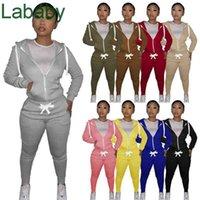 Women Tracksuits Two Piece Set Designer Sweatsuits Hoodie Zipper Jacket Pants Cotton Casual Long Sleeve Cardigan Joggers Pants Outfits