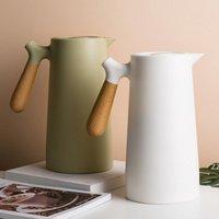 보온병 진공 커피 냄비 1.0L은 음료를 마시고 뜨겁고 차가운 플라스크 TEAR HWE9373 용 더블 벽화 된 열 냄비