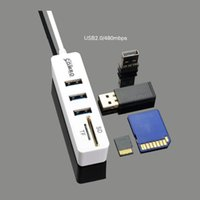 Hubs H55F 3 Port USB 2.0 Hub Splitter Combo Micro Connector Cable OTG SD TF Card Reader