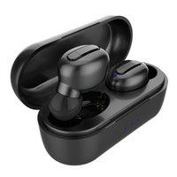 2021 Custom TWS V1 Draadloze oortelefoon Dubbele Oor Magnetische 8D Surround Sound Draag Comfortabele LED-display Touch Control Bluetooth Oordopjes voor iOS Android