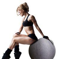 Spor Yoga Topu Kapak Anti-Kirli Koruyucu Pamuk Keten Ev Şekillendirme Vücut Geliştirme Pilates Handdle Topları ile