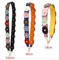 Purse Bag Strap Flower Replacement Adjustable Leather DIY Shoulder Handbag Accessories High Quality Wide 4cm Crossbody Bags Straps