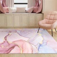 مجردة مائية الوردي سجادة كبيرة لغرفة المعيشة غرفة نوم العصرية الجودة لينة السرير منطقة البساط كيد لعب حصيرة الأرجواني 316 v2