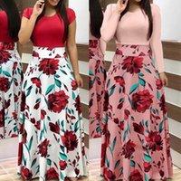 النساء اللباس بوهو طباعة مثير خمر الإناث الأزهار ماكسي es مساء حزب bodycon طويلة vestidos زائد الحجم S-5XL