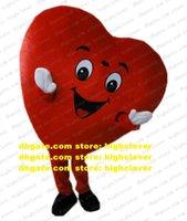 Vermelho coração mascote traje adulto cartoon personagem outfit terno parabéns parabéns negócio advocacy cx2009 navio grátis
