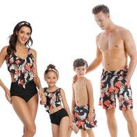 Abiti da abbigliamento per famiglie Abbigliamento Beachwear Abbigliamento Della Figlia Della Figlia Swimwear Dad Son Swim Pantaloncini Mommy e Me Bikini Bagno Costumi da bagno Guarda
